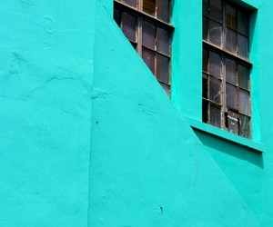 abstract photography, architecture, and turquoise image