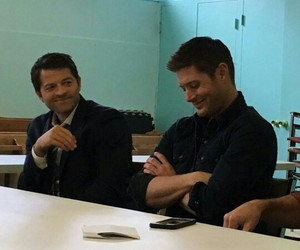 Jensen Ackles and misha collins image