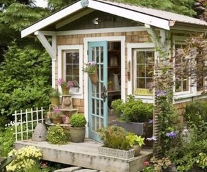 shed, tiny house, and home image