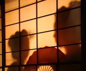 japan, fan, and geisha image