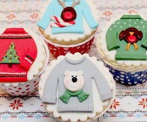 christmas, cupcakes, and jumper image