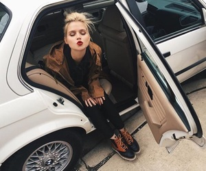 blonde, car, and fabulous image