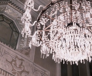 chandelier, luxury, and theme image