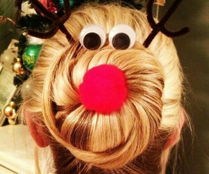 christmas, hair, and hairstyle image