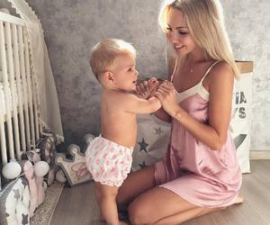 baby, family, and mom image