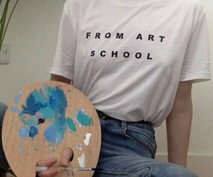 artist, blue, and school image