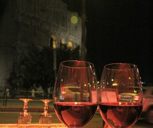 colosseum, dinner, and italy image