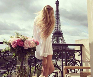 blonde, france, and girl image
