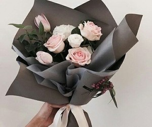 black, flowers, and roses image