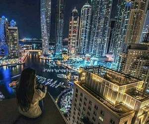 city, travel, and Dubai image