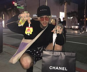 lil peep, chanel, and grunge image