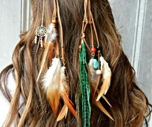 fashion, feathers, and girl image
