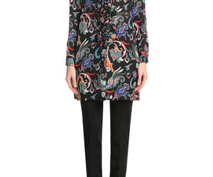 blouse, printed, and fashion image