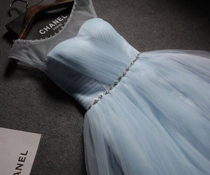 dress, chanel, and blue image