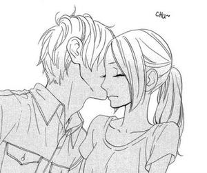 hirunaka no ryuusei, manga, and kiss image