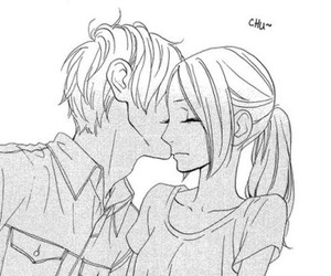 hirunaka no ryuusei, manga, and kiss image