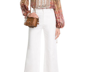 fashion, printed, and silk blouse image
