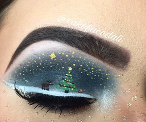 christmas, makeup, and beautiful image
