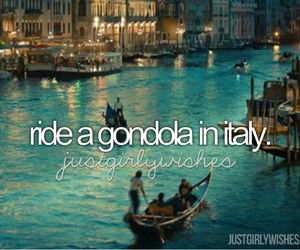 italy, gondola, and before i die image