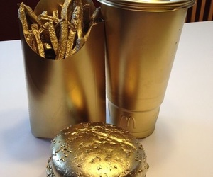gold, food, and eat image
