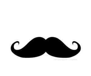 moustache, mustache, and black image