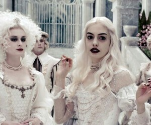 alice in wonderland, white queen, and book image