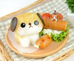 food, kawaii, and bento image
