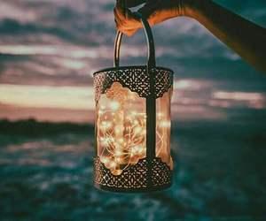 hand, lamp, and night image
