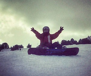 peace, snowboarding, and winter image