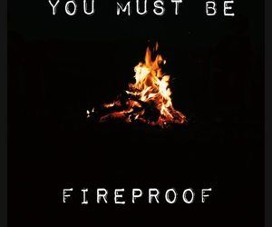 fire, Lyrics, and quote image