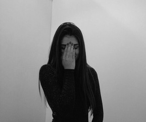 black, black & white, and fashion image