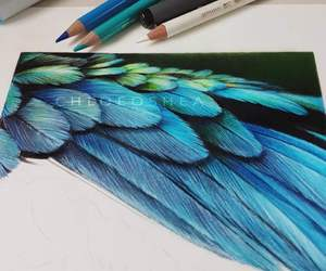 amazing, art, and feathers image