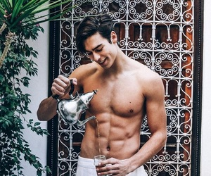 abs, beautiful, and hot guy image