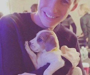 eddie redmayne, puppy, and dog image