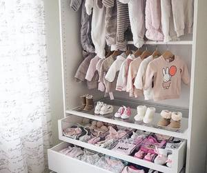 baby, closet, and clothes image