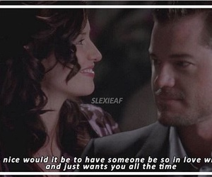 grey's anatomy, slexie, and love image