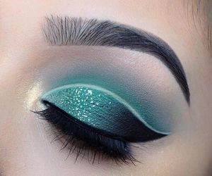 eye, glitter, and smoky image