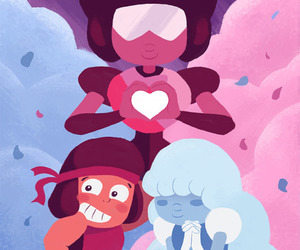 fusion, sapphire, and steven universe image