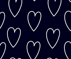 black, black and white, and hearts image