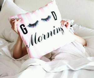 morning, pillow, and good morning image