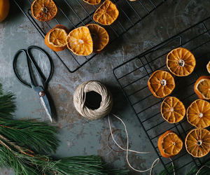 diy, oranges, and garland image