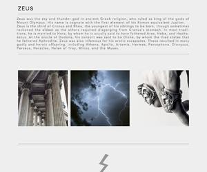 god, mythology, and Zeus image