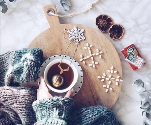 tea, winter, and cold image
