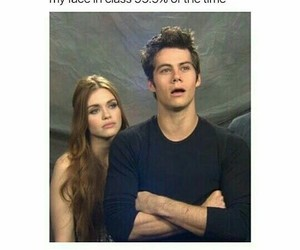 funny, school, and teen wolf image