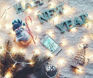 new year, winter, and christmas image