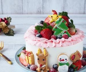 cake, christmas, and holidays image