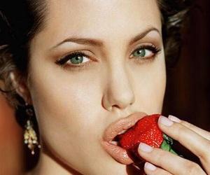 Angelina Jolie, strawberry, and sexy image