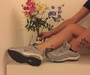 nike, цветы, and tatto image