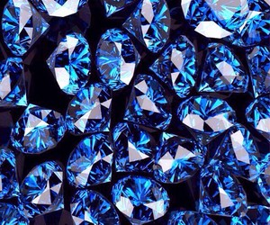 wallpaper, diamond, and blue image