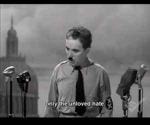 charlie chaplin, quotes, and speach image